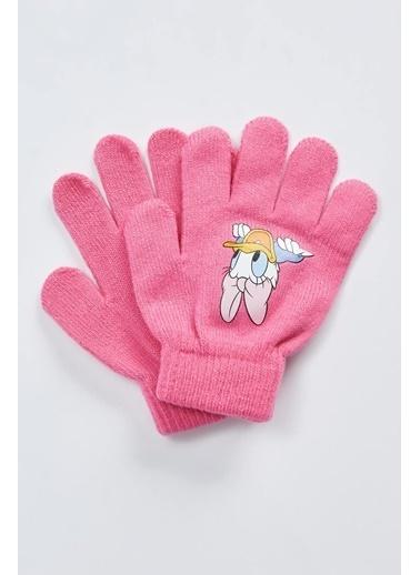 DeFacto Kız Çocuk Mickey-Minnie Mouse Lisanslı Eldiven Pembe